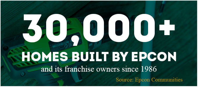 30,000+ homes built by epcon and its franchise owners since 1986. Source: epcon communities