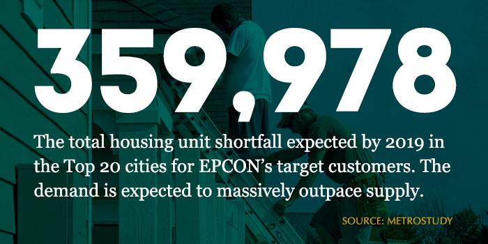 Epcon home building franchise infographic