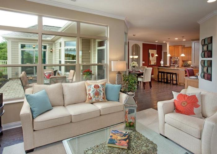 Epcon's copyrighted open floor plans provide features for wheelchair accessibility.