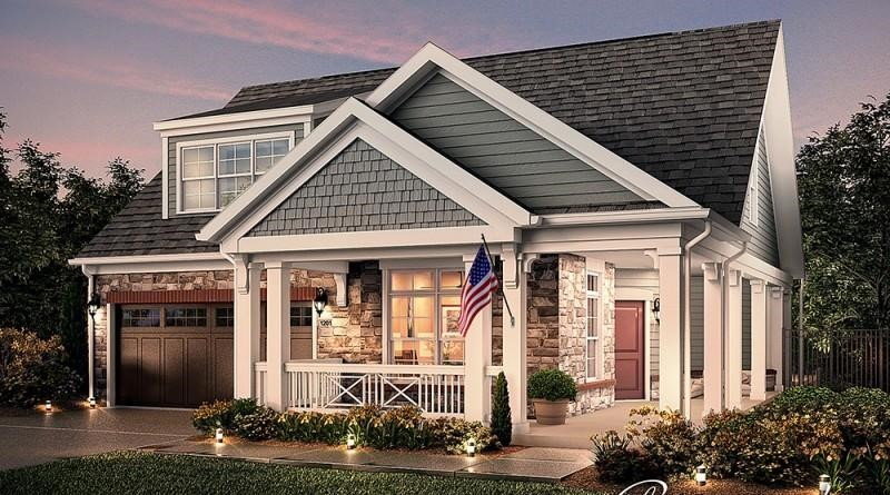 Photo depicting a house from Epcon's American Porch Collection